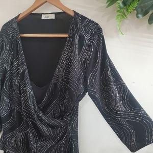 BOGO Sale! ABG Gown black silver medium